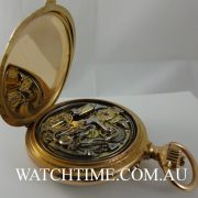 Swiss 18k Solid Gold Minute Repeater Chonograph