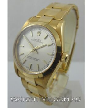 Rolex Oyster Perpetual 18k Solid Gold