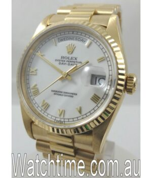 Rolex President Day Date 18238 White Dial