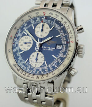 BREITLING OLD NAVITIMER BLUE DIAL BOX   PAPERS
