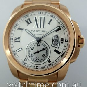 Cartier Calibre De Cartier 3300 18k Rose Gold  White dial