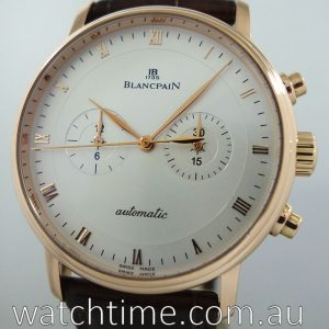 Blancpain Villeret Chronograph No Date - 40mm Mens 18K Gold