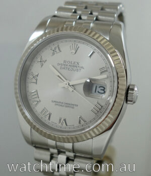 Rolex Datejust  White-Gold bezel  116234  Box   Papers