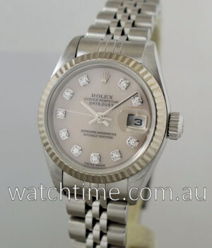 Rolex Lady Datejust  Pink Mother-of-Pearl Diamond dial