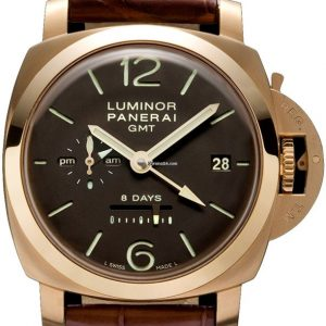 PANERAI 18K Pam 289 1950 8 day GMT  Box   Papers 2016