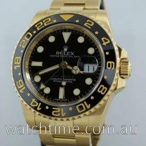 Rolex GMT Master II 18k  Yellow-Gold  116718LN