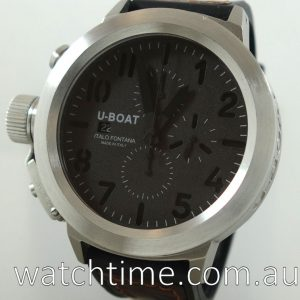 U-BOAT Flightdeck Titanium 50mm Chrono