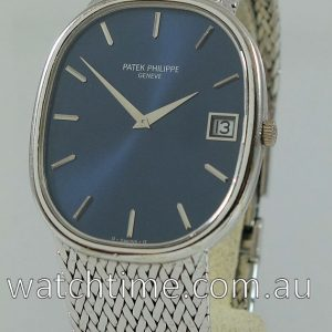 Patek Philippe Ellipse 3605  Jumbo 18k White-Gold