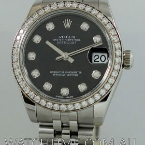 Rolex  Datejust  STEEL 31mm Factory Diamond Bezel   Dial