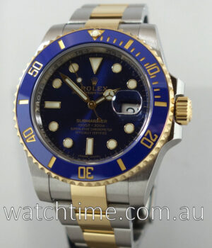 Rolex Submariner Gold and Steel Blue Dial 116613LB JULY 2017