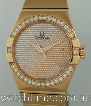 OMEGA Constellation 38mm Red Gold  Pave Diamond-dial 123 55 38 20 99 004