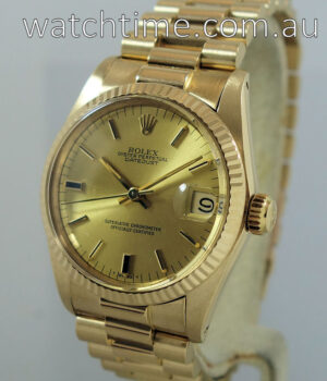 Rolex Datejust 18ct Yellow-Gold  Midsize