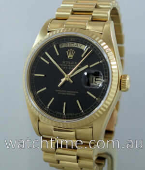 Rolex Day-Date President  18038  Black-dial