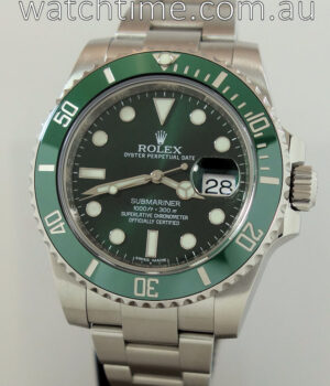 Rolex Submariner 116610LV  GREEN  Box   Papers 2014