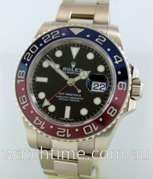 Rolex GMT Master II 18k White Gold 2017 Box   Papers