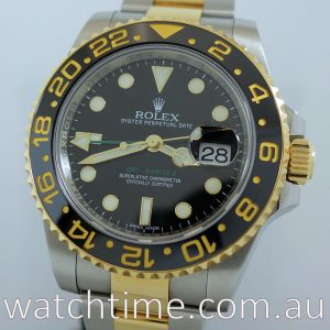 Rolex GMT Master 18k   Steel  116713LN  Box   Papers