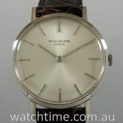 Patek Philippe 3537 18k White-Gold Calatrava 1970s