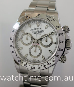 Rolex Daytona Steel White-Dial 2015  Box   Papers