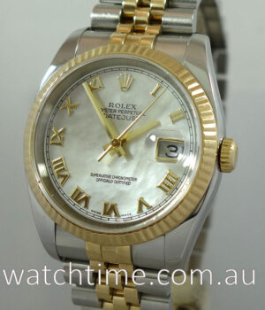 Rolex Datejust 18k   Steel  Mother of Pearl Dial  116233