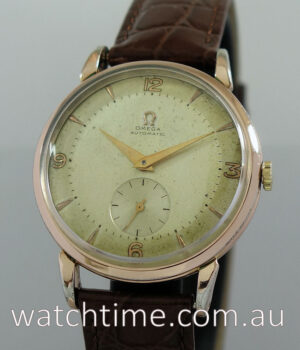 Omega Bump-Auto  Pink-Gold capped with Sub-Seconds