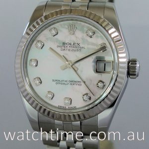 Rolex Datejust  31 Steel  Mother of Pearl with Diamonds