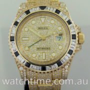 Rolex GMT Master II 18k Gold with Diamonds  116718LN