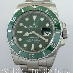 Rolex Submariner 116610LV  GREEN HULK Box   Papers Sep 2018  UNUSED