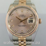Rolex Datejust 18k Everose & Steel 116231 Rose Diamond-dial