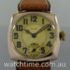 ROLEX 9ct  Rose-Gold  Cushion  c 1937