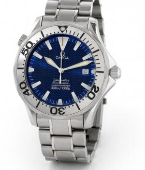 Omega Seamaster 300m 22558000   Electric  blue dial