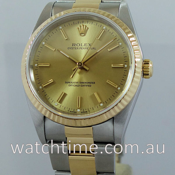 Rolex Oyster 18k Yellow-Gold & Steel 14233