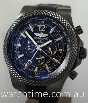 BREITLING Bentley GMT Chronograph  MIDNIGHT CARBON  M47362