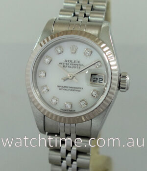 Rolex Lady Datejust  Mother of Pearl Diamond-dial 79174