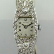ROLEX Ladies 18k White-Gold & Diamond Cocktail watch