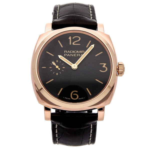PANERAI PAM 439 RADIOMIR 18K ROSE GOLD BROWN TOBACCO DIAL