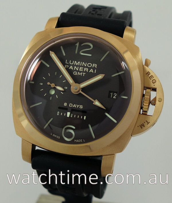 Panerai 18k Rose-Gold 1950s GMT 8-Days Brown-Dial PAM 289
