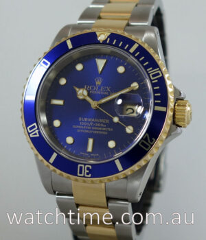 Rolex Submariner 18k Gold   Steel  SEL  Blue dial Box   Papers