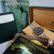 Rolex Submariner 16613  Black-dial  18k & Steel Box & Papers