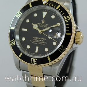Rolex Submariner 16613  Black-dial  18k   Steel Box   Papers