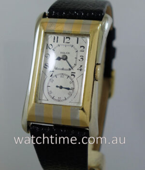 Rolex Prince 18k Striped  Flared c 1935