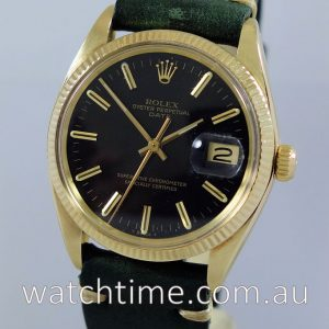 Rolex GOLD Oyster Date  c 1978  RARE Black-Dial
