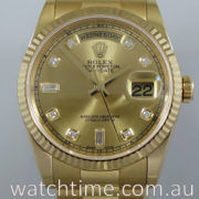 Rolex President Day-Date 118238 Diamond-Dial 2018 box & Card.