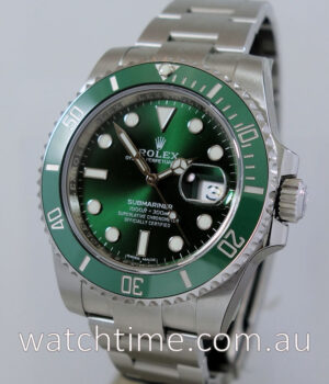 Rolex Submariner Ceramic GREEN 116610LV  Box   Papers May 2017