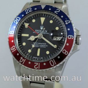 Rolex GMT Master 1675  Pepsi  1977     RARE  RADIAL DIAL       NOT FOR SALE Display Only
