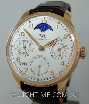 IWC  Portugieser Perpetual Calendar with  Moonphases 18k Gold  Jan 2019