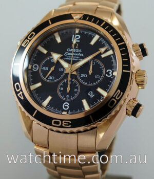 Omega  Seamaster PLANET OCEAN 600M CO   AXIAL CHRONO 18k Red-Gold 222 60 46 50 01 001