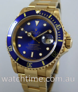 Rolex Submariner 18k GOLD 16618 with Service Card
