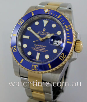Rolex Submariner 116613LB Blue-Dial 1st Series Box   Papers