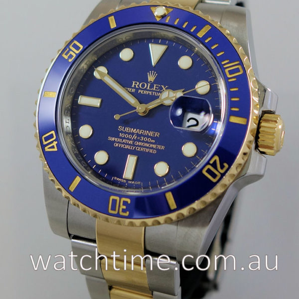 Rolex Submariner 116613LB Blue-Dial 1st Series Box & Papers