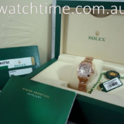 Rolex Datejust Pearlmaster 29mm 18k Everose  80315  Diamond Dial & Bezel